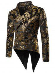 Gold Stamping Slim Fit Swallow-tailed Blazer -