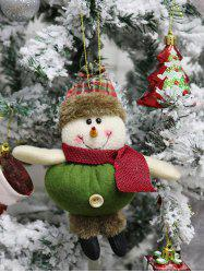 Christmas Snowman Theme Hanging Decor Doll -