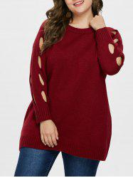 Plus Size Cut Out Tunic Sweater -
