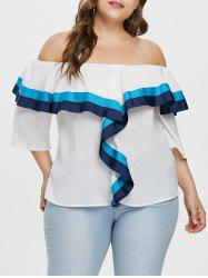 Off The Shoulder Plus Size Ruffle Blouse -