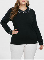 Plus Size Ribbed Sweater -