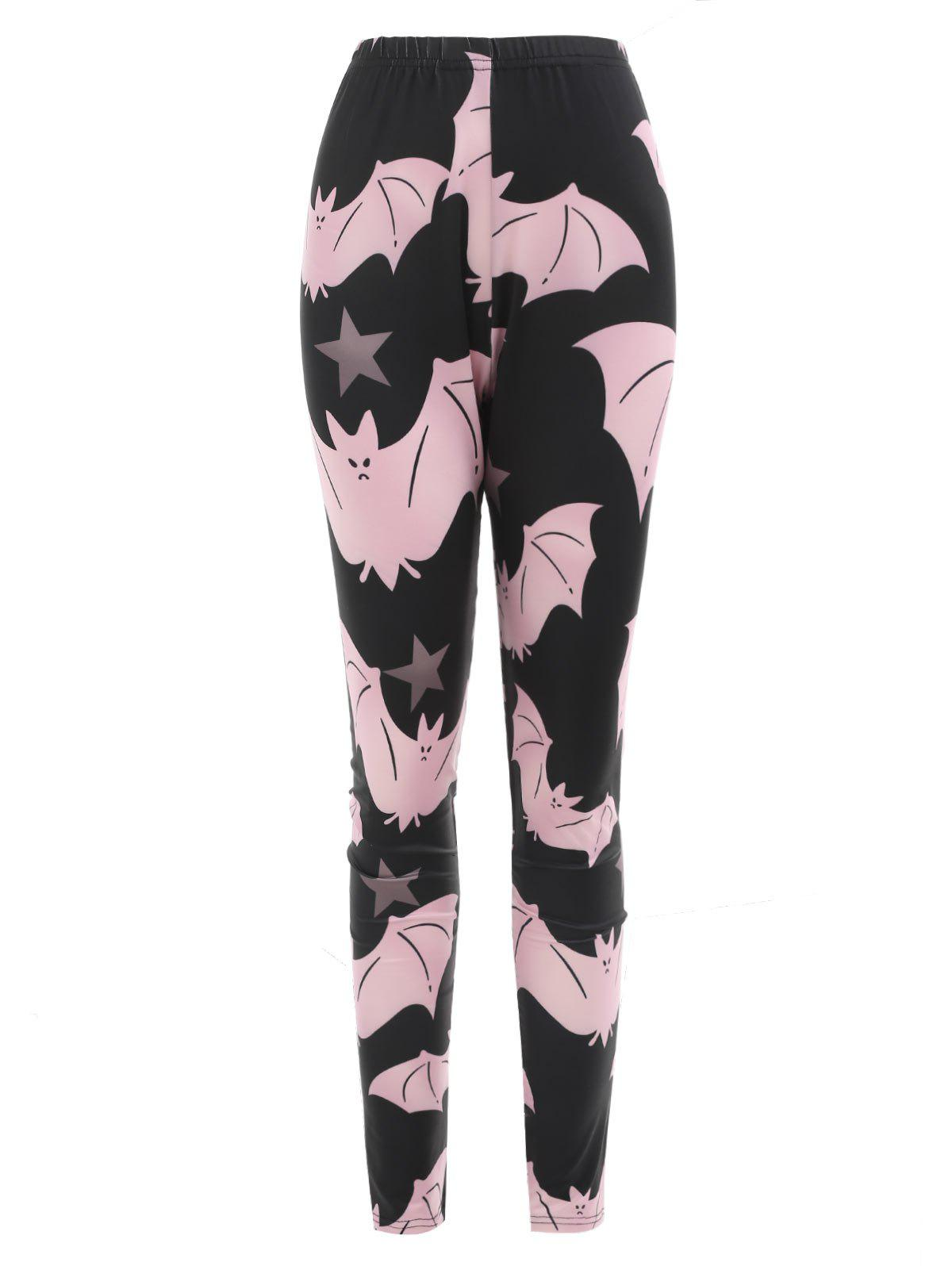 Outfit Cartoon Bats Print Halloween Leggings
