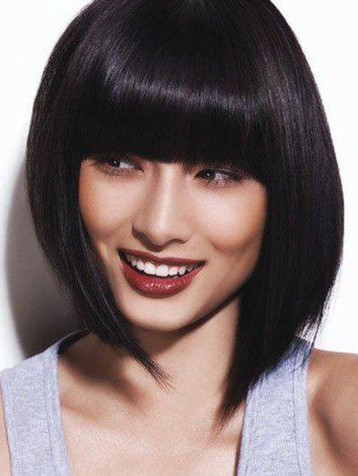 Discount Short Full Bang Straight Bob Human Hair Wig