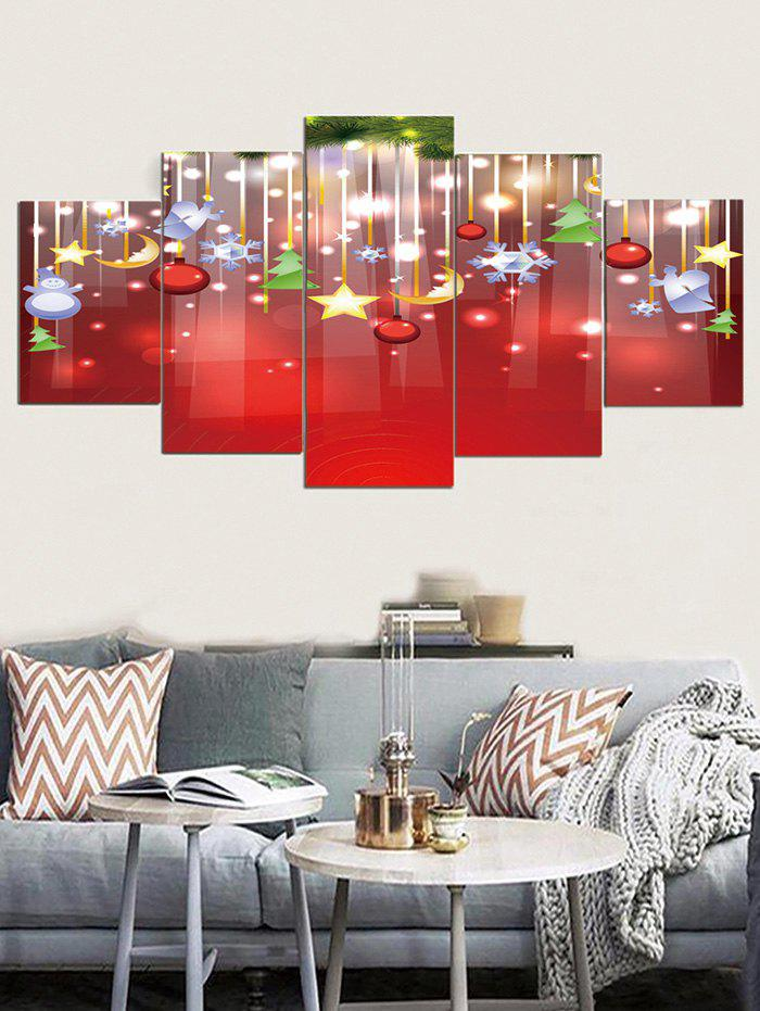 2019 Christmas Hanging Decorations Print Unframed Split Canvas