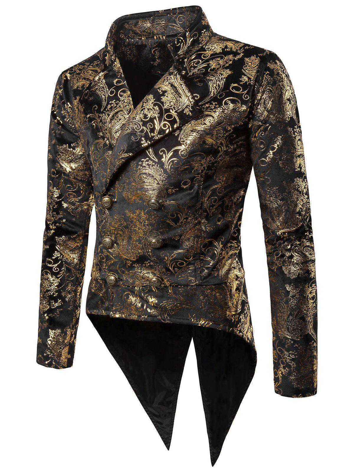 Discount Gold Stamping Slim Fit Swallow-tailed Blazer