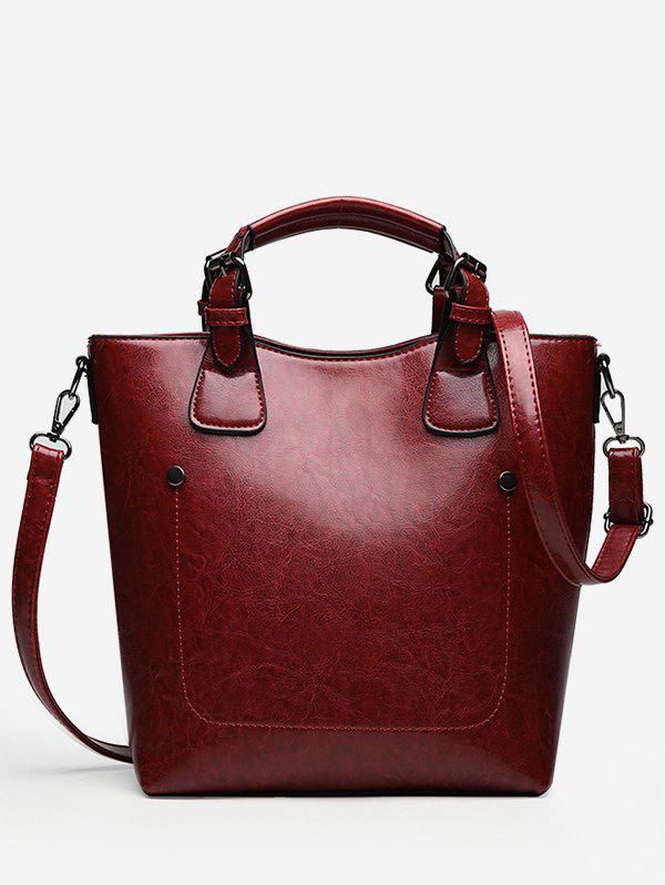 Cheap Minimalist Solid Color Handbag with Strap