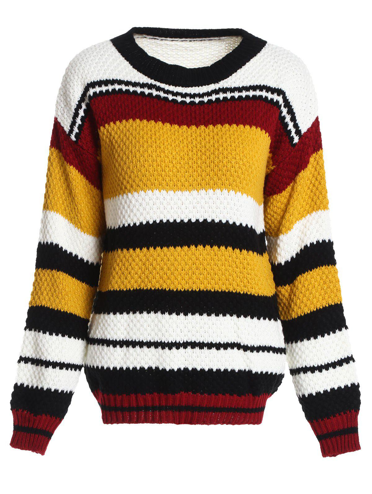 Shop Drop Shoulder Color Block Sweater