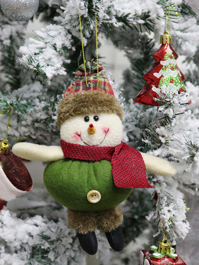 Fancy Christmas Snowman Theme Hanging Decor Doll