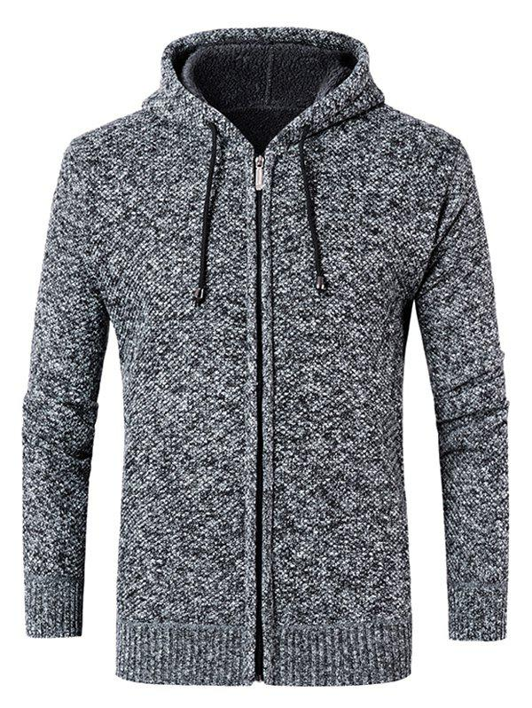 New Drawstring Hooded Zip Up Sweater