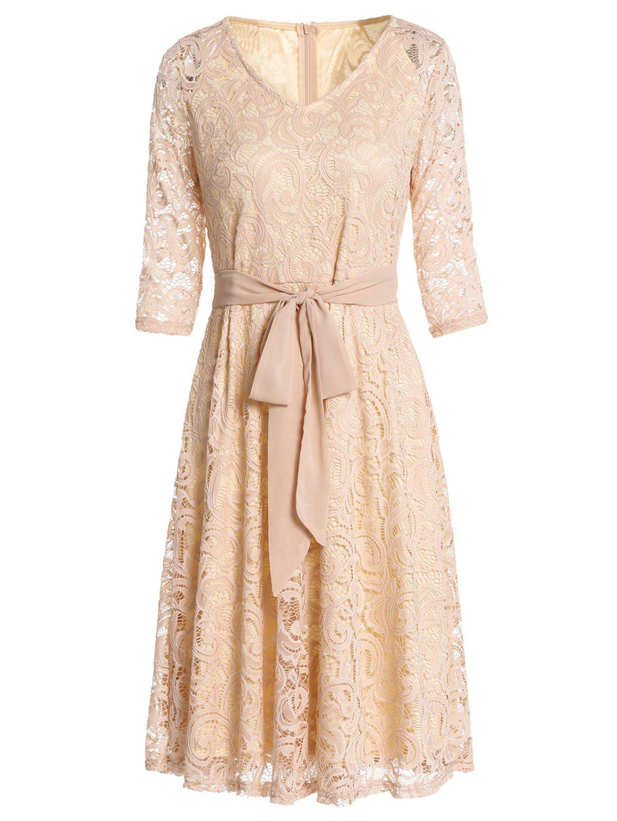 Buy Vintage Lace High Waist Dress