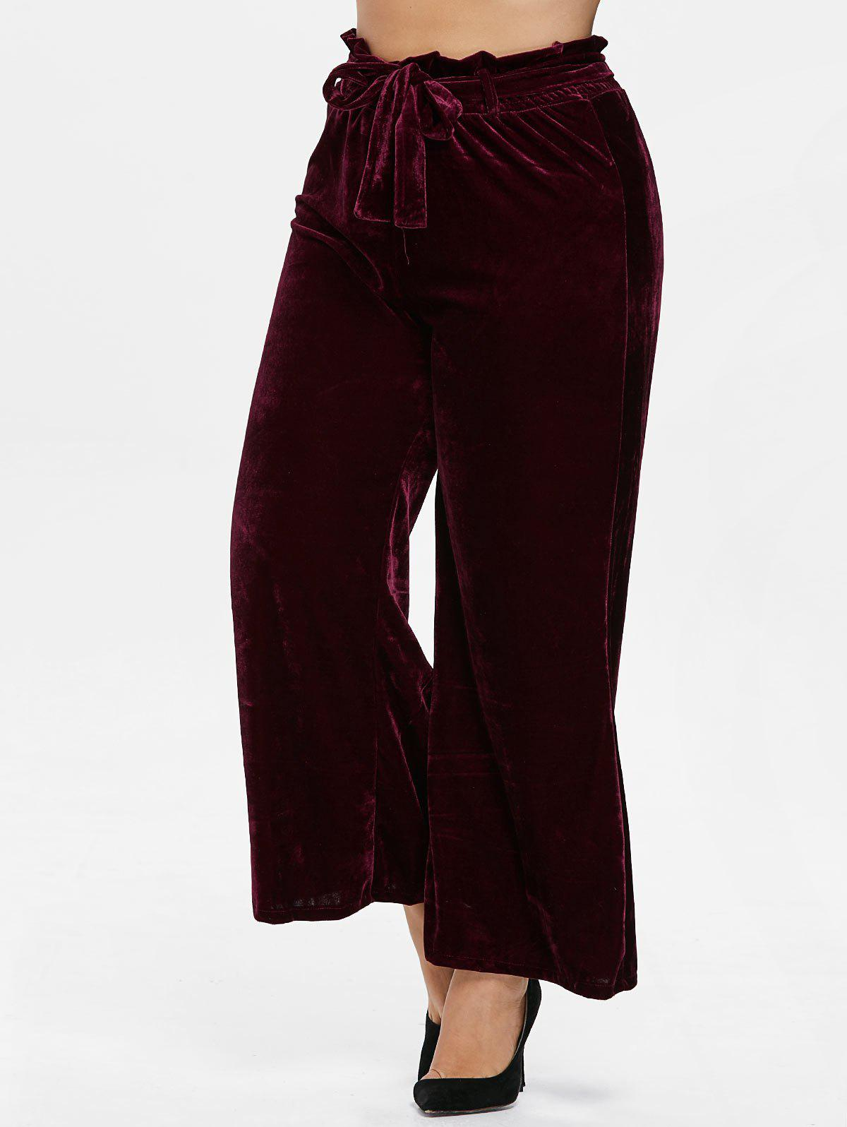 Shops Plus Size Wide Leg Palazzo Velvet Pants