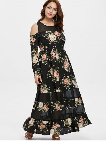 Long Sleeve Floral Maxi Dress - Free Shipping 4f1ba9901