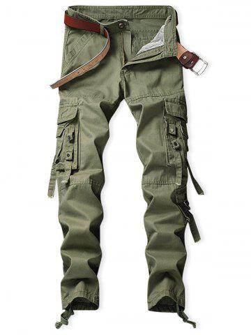 Knotting Bottom Zipper Fly Cargo Pants
