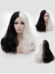 Long Center Parting Two Tone Wavy Party Cosplay Synthetic Wig -