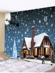 Christmas Theme Printed Wall Tapestry Art Decoration -