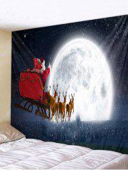 Father Christmas Deer Moon Wall Tapestry Decoration -