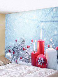 Christmas Snowflake Ball Printed Wall Tapestry Art Decoration -