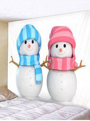 Christmas Snowman Lovers Wall Tapestry Art Decoration -