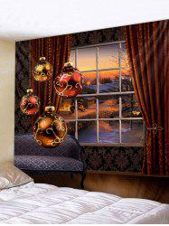 Christmas Ball Print Wall Tapestry Art Decoration -