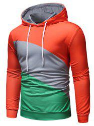 Casual Color Block Pullover Hoodie -