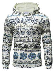 Multiple Patterns Printed Casual Hoodie -