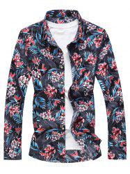 Flower Printed Button Up Shirt -