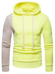 Contrast Color Long Sleeve Pullover Hoodie -