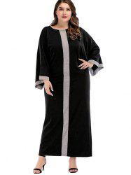 Plus Size Hit Color Maxi Baggy Dress -