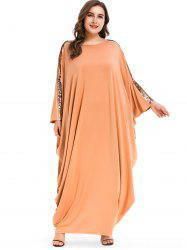 Sequins Batwing Sleeve Plus Size Maxi Dress -