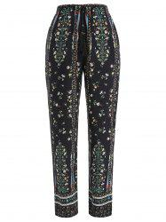 Drawstring Floral Print Sleeping Pants -