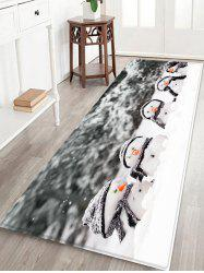 Christmas Snowman Brother Printed Non-slip Flannel Floor Rug -