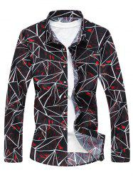 Joint Line Print Long Sleeve Shirt -