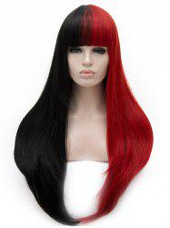 Long Full Bang Two Tone Straight Cosplay Party Synthetic Wig -