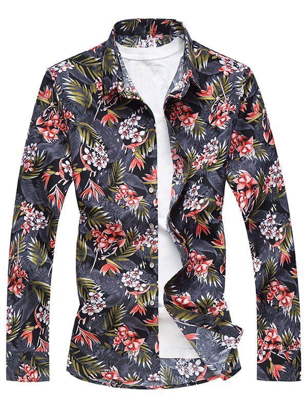 Online Flower Printed Button Up Shirt