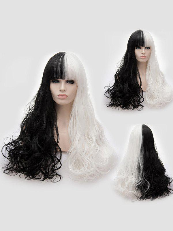 Buy Full Bang Long Two Tone Wavy Cosplay Synthetic Wig