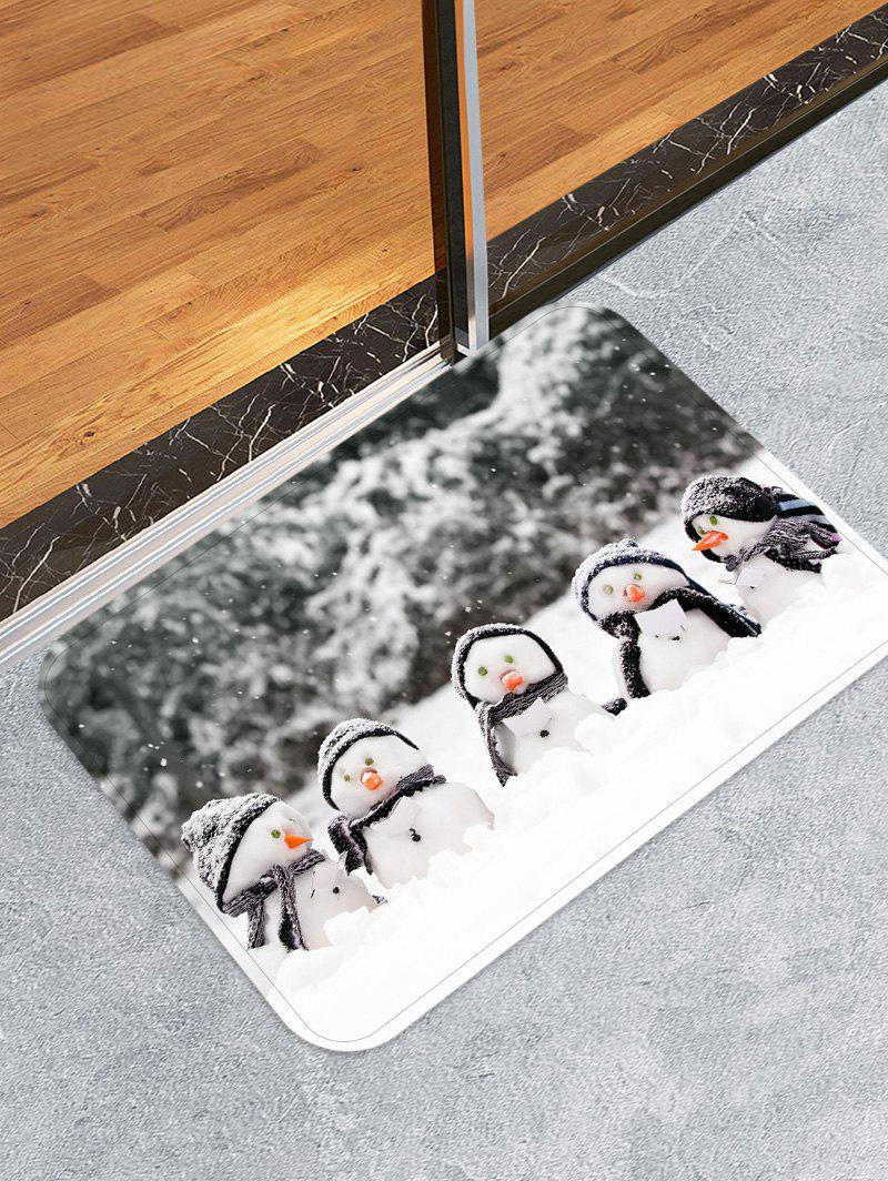 Fashion Christmas Snowman Brother Printed Non-slip Flannel Floor Rug