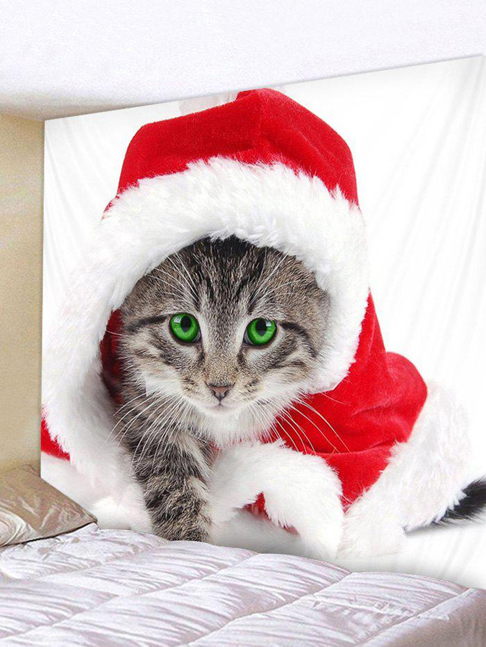 Hot Christmas Cat Printed Wall Tapestry Art Decoration