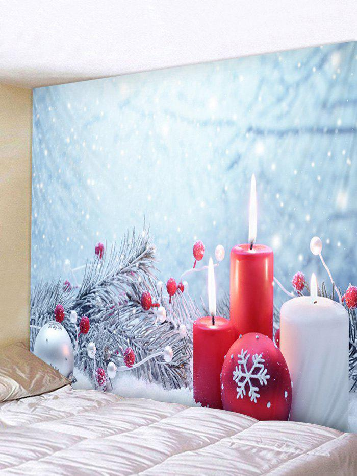 Online Christmas Snowflake Ball Printed Wall Tapestry Art Decoration