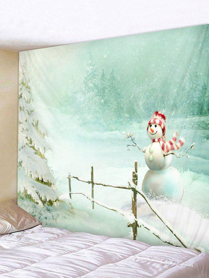 Outfit Christmas Snowman Print Wall Tapestry Art Decoration