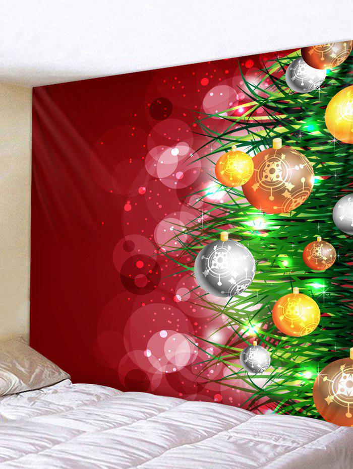 Shops Christmas Ball Pattern Wall Tapestry Decoration