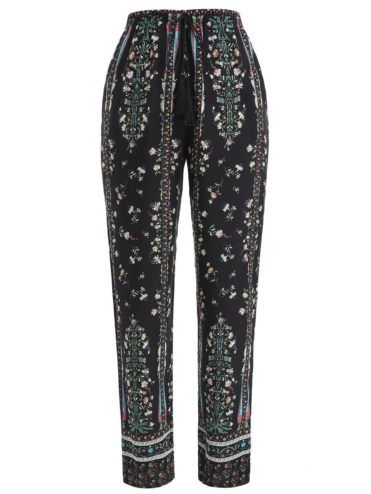 New Drawstring Floral Print Sleeping Pants