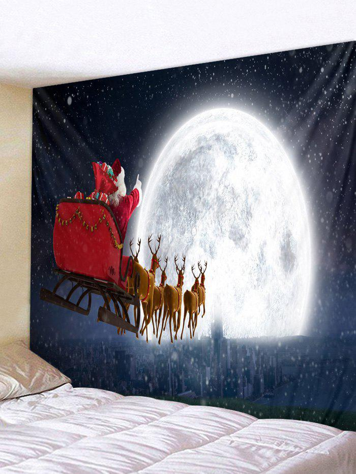 Shop Father Christmas Deer Moon Wall Tapestry Decoration