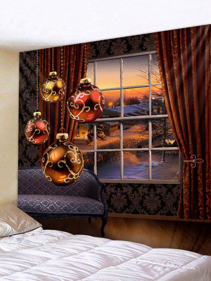 Chic Christmas Ball Print Wall Tapestry Art Decoration