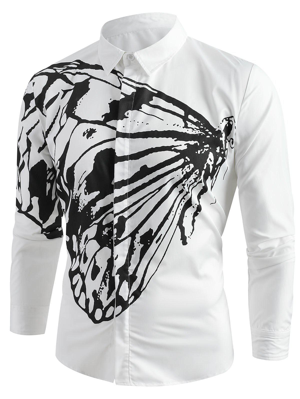 Store Butterfly Pattern Shirt