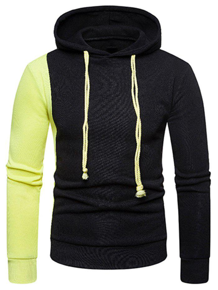 Sale Contrast Color Long Sleeve Pullover Hoodie