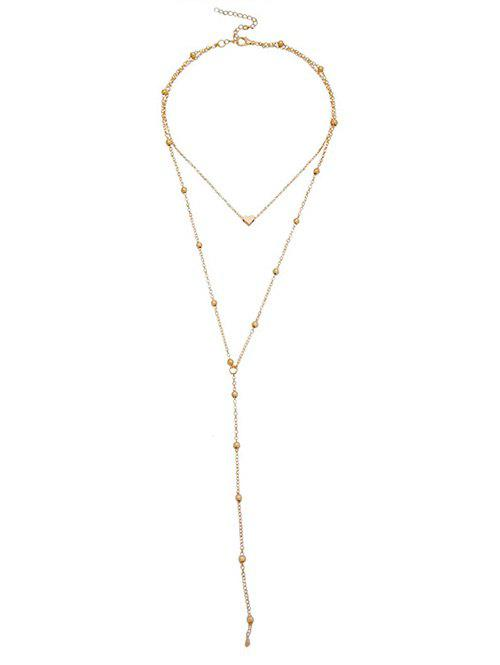 Trendy Heart Shape Beads Layered Necklace
