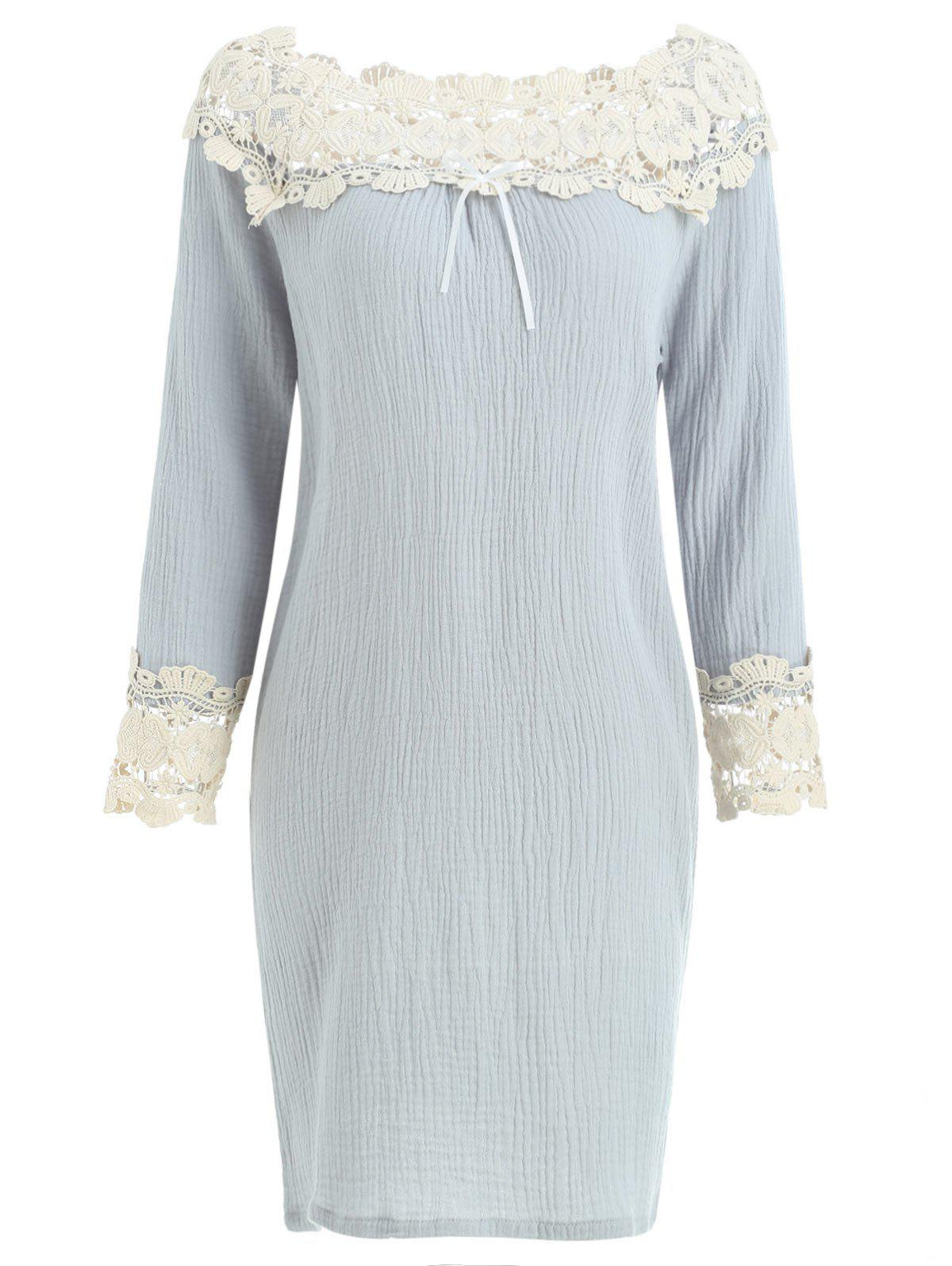 Shops Lace Insert Raglan Sleeve Sleeping Dress
