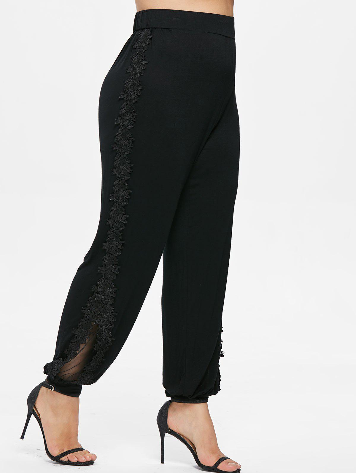 Shop Plus Size Lace Applique Pants