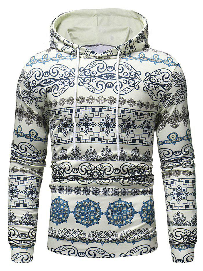 Outfits Multiple Patterns Printed Casual Hoodie
