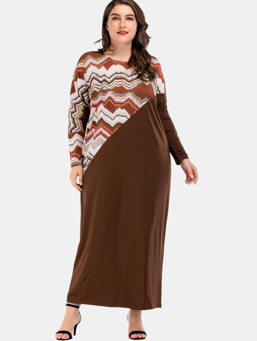 Shops Plus Size Wave Print Maxi Dress